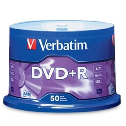 Verbatim DVD Plus R 50 Pack 16x 4Point7 GB