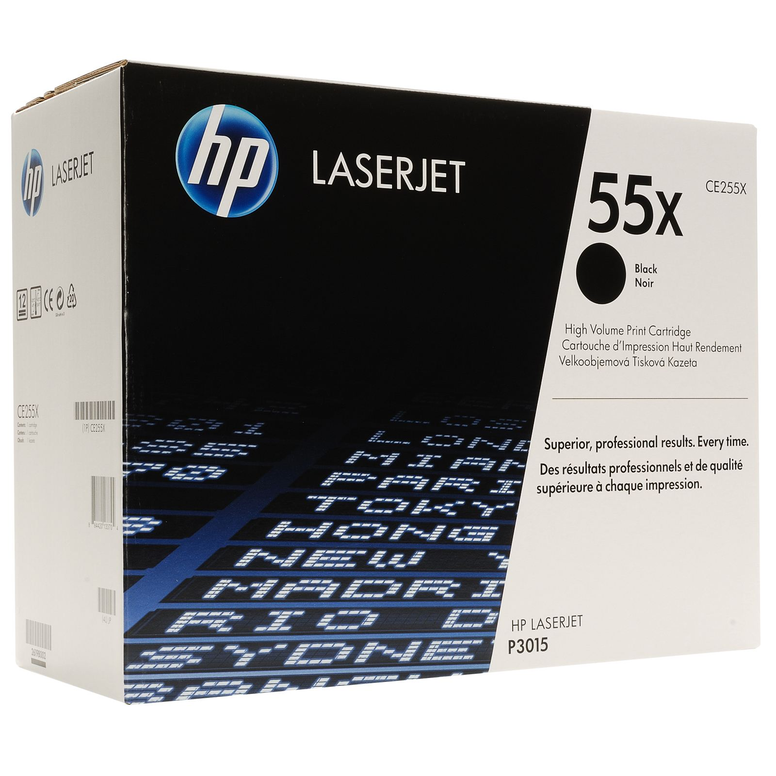 HP 55X CE255X high capacity black toner ORIGINAL