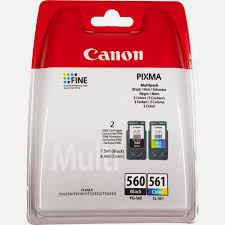 Canon PG-560 Black and CL-561 Colour Ink Cartridge Multi Pack