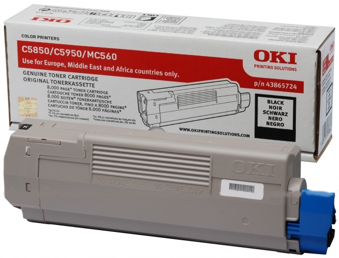 Oki 43865724 Black Toner Original - Oki 5950 Black Toner