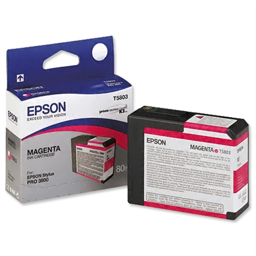 Original Epson cyan ink cartridge, contents 80ml.