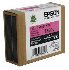Epson T5806 light magenta ink cartridge original