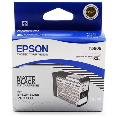 Epson T5808 Matt Black Ink Cartridge Epson C13T80800