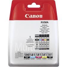 Canon PGI-580CLI-581 Black Cyan Magenta Yellow Black Ink Multi Pack
