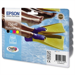 Epson T5846 PicturePack cartridge Plus 50 sheets paper ORIGINAL