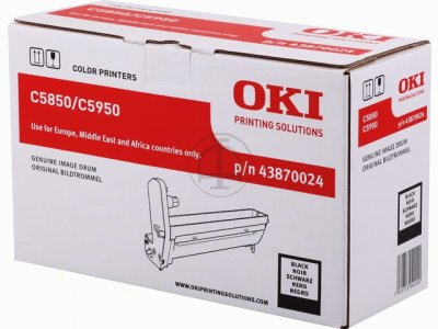 Oki 5850 Drum Unit Original - Oki 43870024 Black Drum Unit