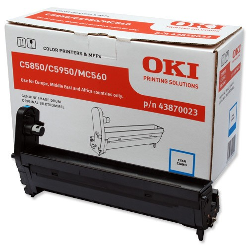Oki 5850 Drum Unit Original - Oki 43870023 Cyan Drum Uint