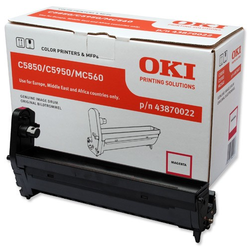 Oki 5850 Drum Unit Original - Oki 43870022 Magenta Drum Unit