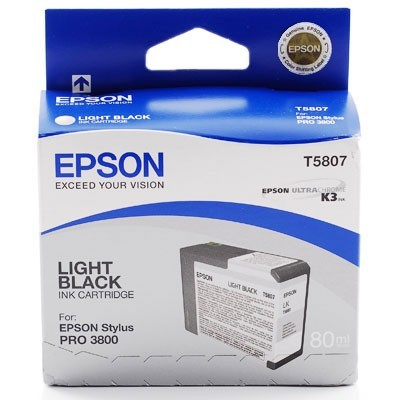 Epson T5807 Light Black Ink Original Epson C13T580700