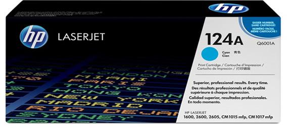 HP Q6001A cyan toner ORIGINAL - Hp 124A Cyan Toner
