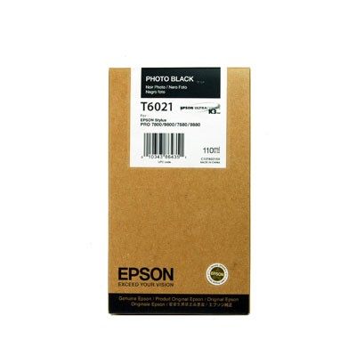 Epson T6021 standard capacity photo black ink cartridge ORIGINAL
