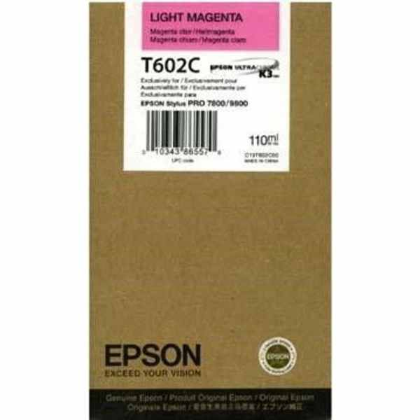 Epson T602C standard capacity light magenta ink cartridge ORIGINAL
