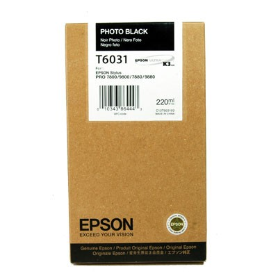 Epson T6031 photo black ink cartridge original