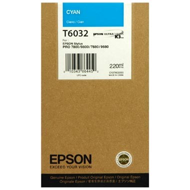 Epson T6032 cyan ink cartridge original
