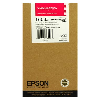 Epson T603B magenta ink cartridge original
