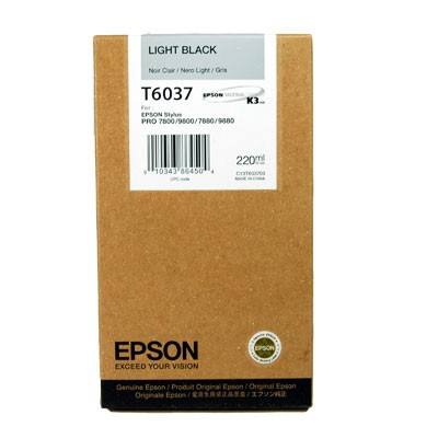 Epson T6037 light black ink cartridge original