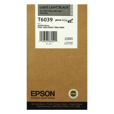 Epson T6039 light light black ink cartridge original