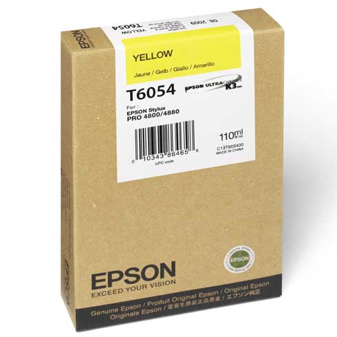 Epson T6054 yellow ink cartridge original