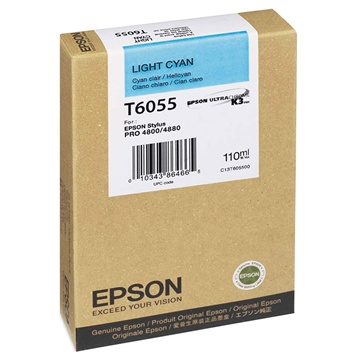 Epson T6055 light cyan ink cartridge original