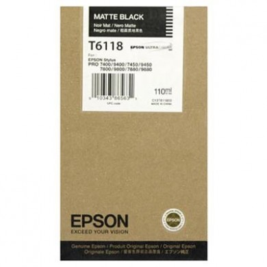 Epson T6118 standard capacity matt black ink cartridge ORIGINAL