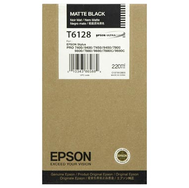 Epson T6128 matt black ink cartridge original