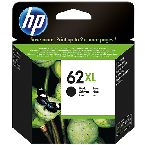 HP 62XL black high-cap ink cartridge original C2P05A
