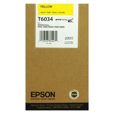 Epson T6034 yellow ink cartridge original