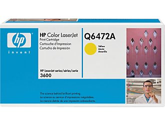 Hp Q6472A Yellow Toner Original