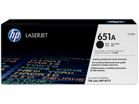 HP 651A CE340A black toner original