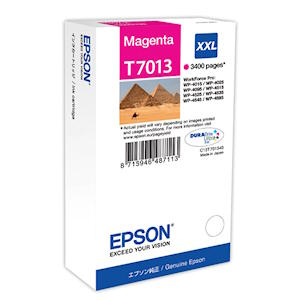 Epson T7013 Magenta Ink Cartridge XXL 3400 Page Yield