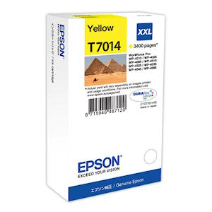 Epson T7014 Yellow Ink Cartridge XXL Original 3400 PageYield