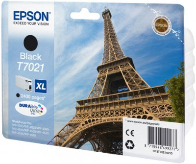 Epson T7021 Black Ink Cartridge High Yield 2400 Original