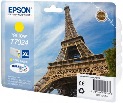 Epson T7024 Yellow Ink Cartridge XL Original High Yield