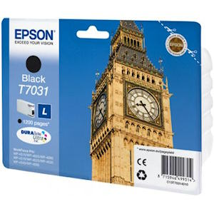 Epson T7031 Black Ink Cartridge Original 1200 Page Yield