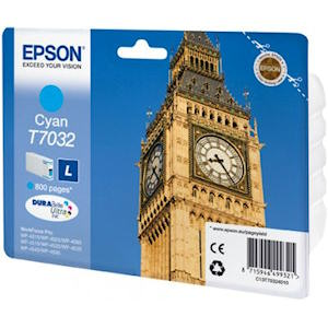 Epson T7032 Cyan Ink Cartridge Original 800 Page Yield