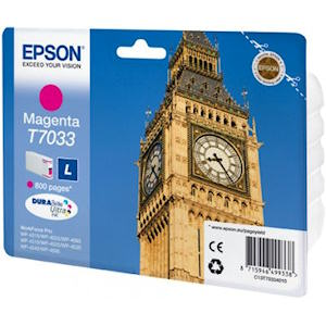 Epson T7033 Magenta Ink Cartridge Original 800 Page Yield