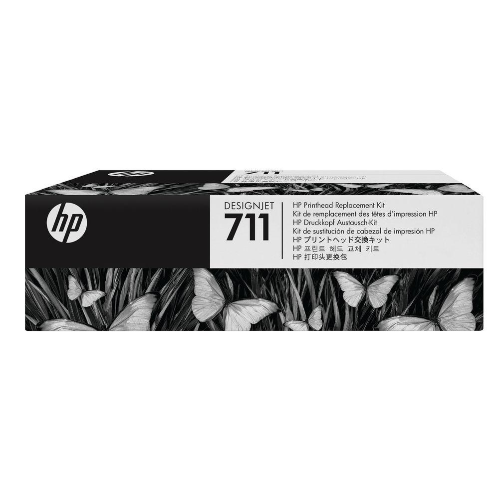 HP 711 Black Cyan Magenta Yellow DesignJet Printhead Replacement Kit