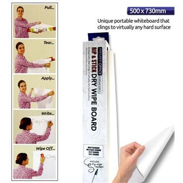 Instant Whitebord Roll 8 Sheets 500x730MM