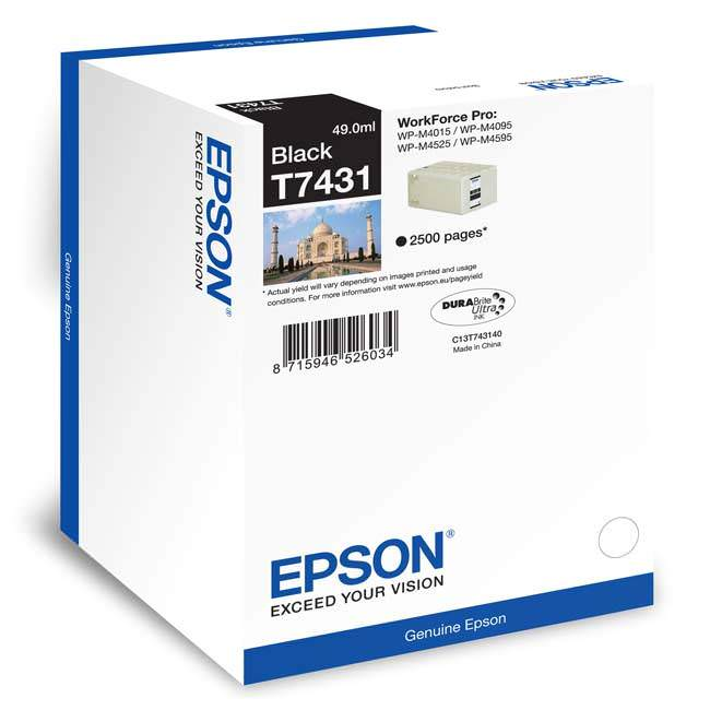 Epson T7431 black ink cartridge Original