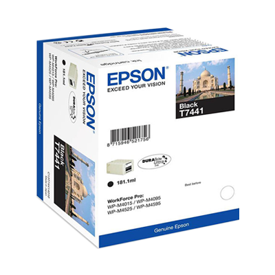 Epson T7441 high capacity black ink cartridge Original 10K Yield