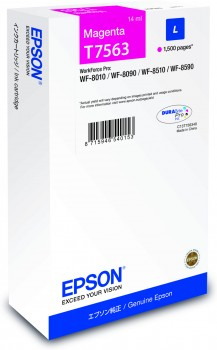 Epson T7563 magenta ink cartridge Original