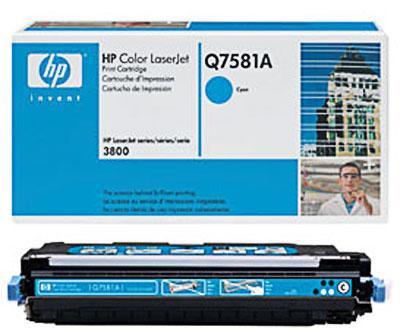HP Q7581A Cyan Toner Original
