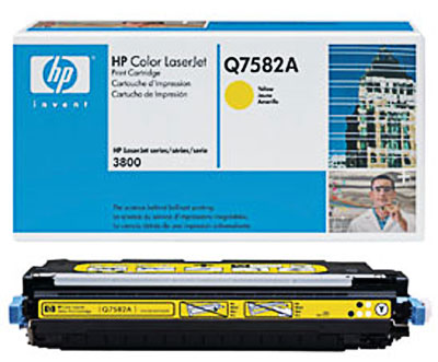 HP Q7582A Yellow Toner Original