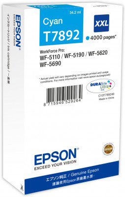 Epson T7892 high capacity cyan ink cartridge original