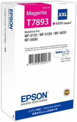Epson T7893 high capacity magenta ink cartridge original