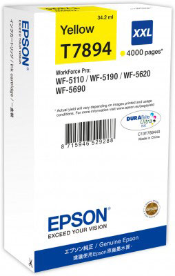 Epson T7894 high capacity yellow ink cartridge original