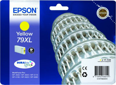 Epson 79XL high capacity yellow ink cartridge original Epson T7904