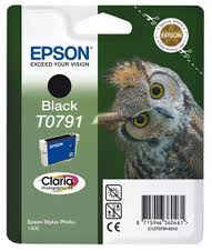 Epson TO791 Black Ink Cartridge Original - Epson 791 Black