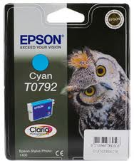 Epson TO792 Cyan Ink Cartridge Original - Epson 792 Ink