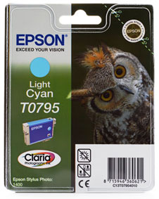 Epson TO795 Light Cyan Ink Cartridge Original - Epson 795